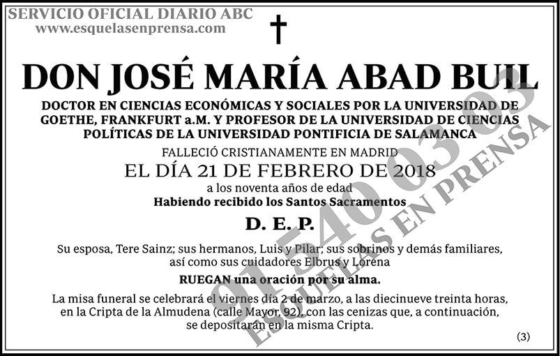 José María Abad Buil